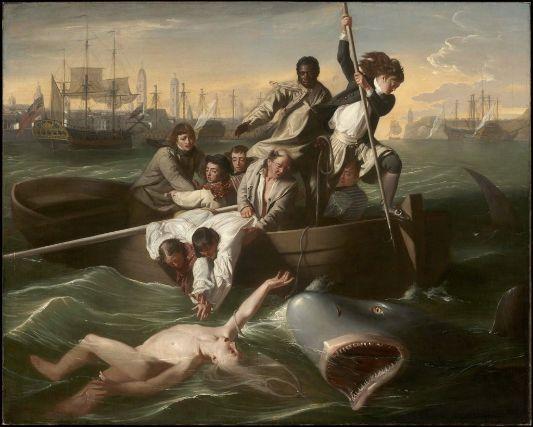 "John Singleton Copley ""Watson and the Shark."" Museum of Fine Arts, Boston."