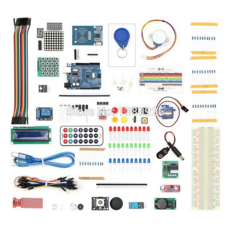 Gratis Pengiriman 2017 Versi Upgrade RFID Starter Kit untuk Arduino UNO R3 Learning Suite Kit Dengan modul sentuh hadiah
