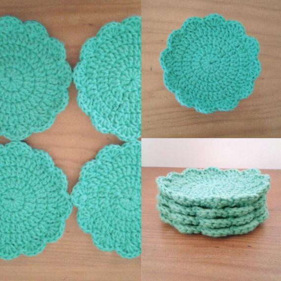Posa vasos a crochet - Individuales y Posa Vasos - Casa - 804778