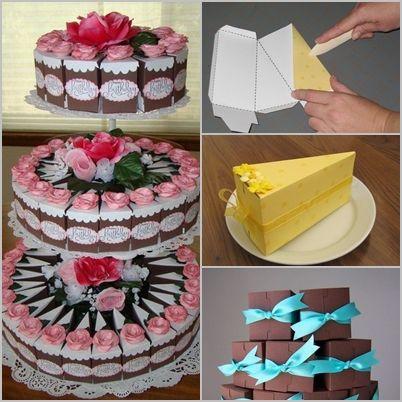 Cake Slice Box How To Make An Origami Cake Slice Box Easy