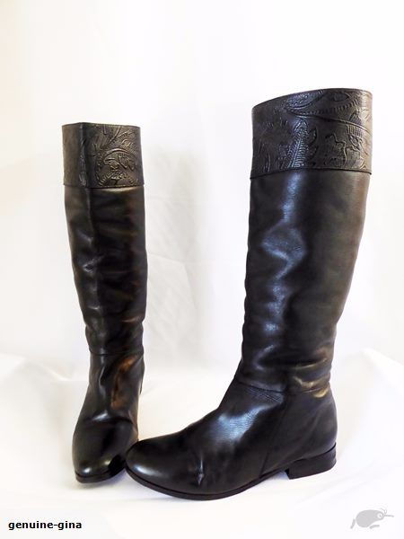 MINNIE COPPER size 38 all leather handmade kneehigh boots