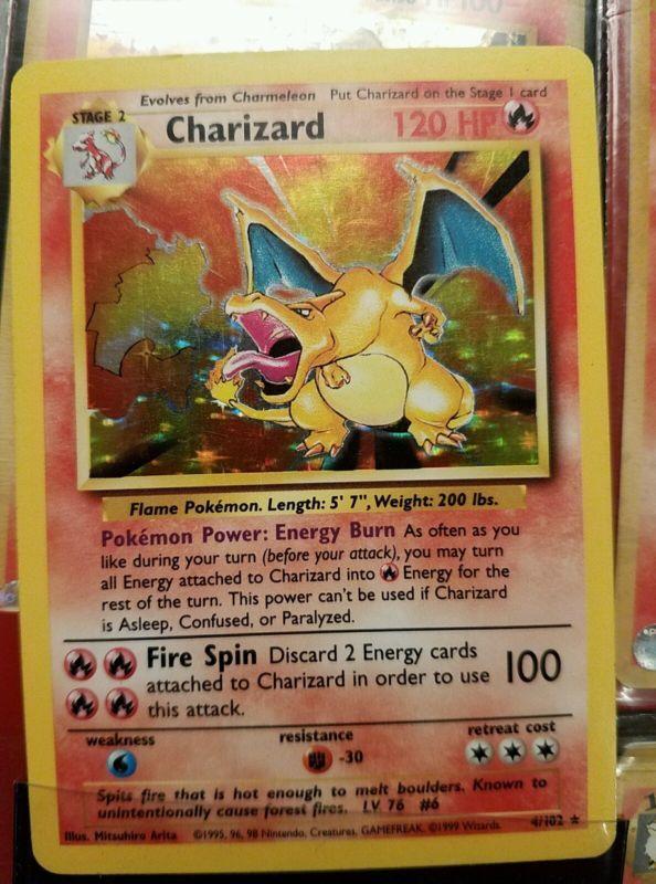 Pokemon cards charizard