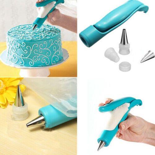 Nozel Set Alat Dekorator penutup Cake Decorating Icing Piping Cream Syringe Tips Muffin Kue Pastry Tas Pena