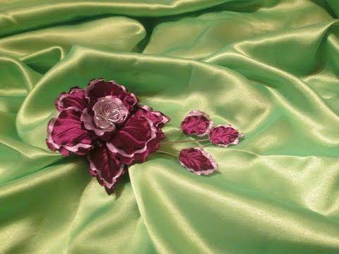 "Орхидея / ""Фантазия""/ Мастер класс / цветок из ткани своими руками / Еле..."