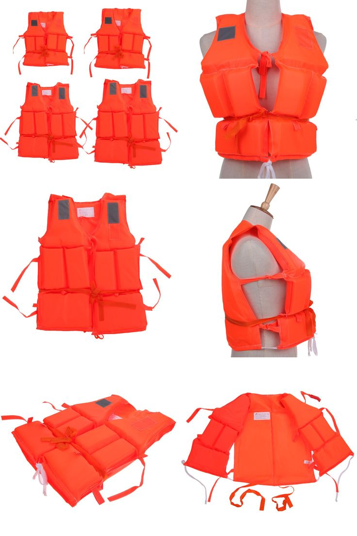 [Visit to Buy]  Kid To Adult Plus Size Polyester Life Jacket Universal Swimming Drifting Boating Ski Surfing Vest With Whistle FE5# #Advertisement