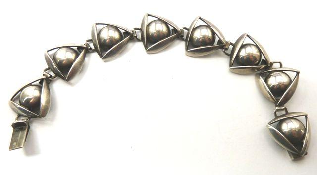 Danish silver bracelet - by John L Denmark (John Lauritzen) made between 195501981,  Photographed by Gillian Horsup