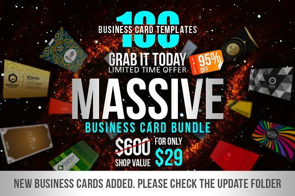 100 Massive Business Card Bundle by Marvel on @creativemarket