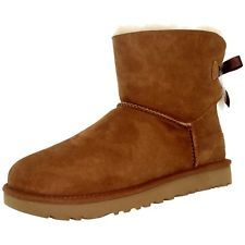 Ugg Women's Mini Bailey Bow Ankle-High Suede Boot