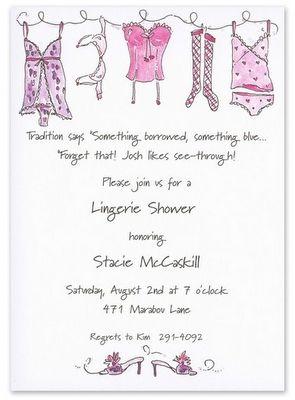 lingerie shower