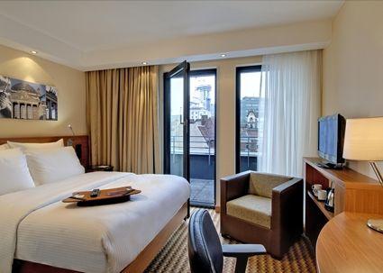Awesome Hampton by Hilton Berlin City West Hotel DE Germany Bedroom with Balcony