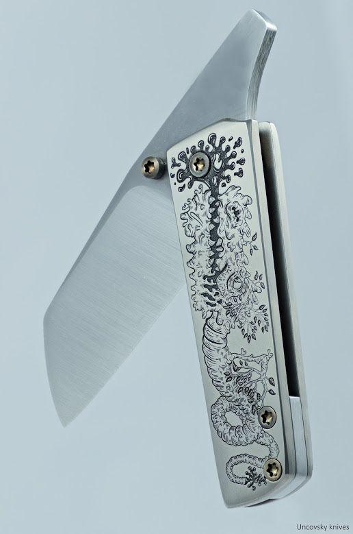 Friction folder (laser engraved, unique drawing)