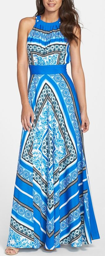 Gorgeous maxi dress...I've pinned way too many dresses today!