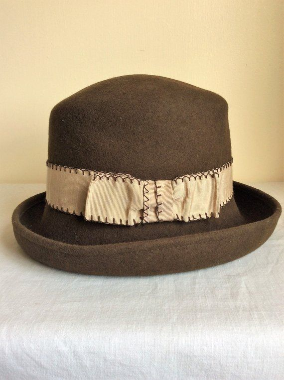 6d913c4340e Ladies brown felt hat