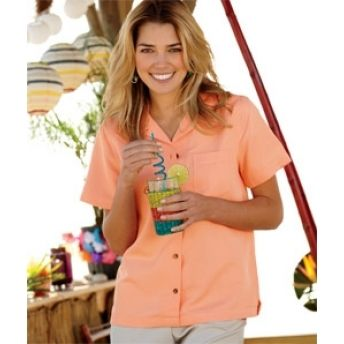 8981 UltraClub Ladies' Cabana Breeze Camp Shirt. Buy at wholesale price.