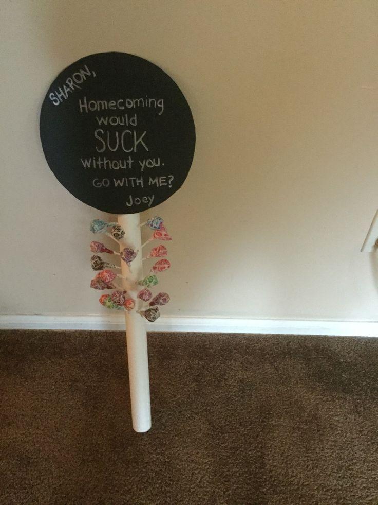 Cute homecoming proposal.