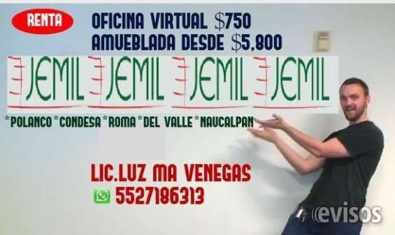Renta de oficina virtual,10 domicilios fiscales  LIC.Luz Maria Venegas torres Cel o whatsapp 5527186313 y 5531741712 OFICINAS VIRTUALES. ESTE ...  http://miguel-hidalgo.evisos.com.mx/renta-de-oficina-virtual-10-domicilios-fiscales-id-610883