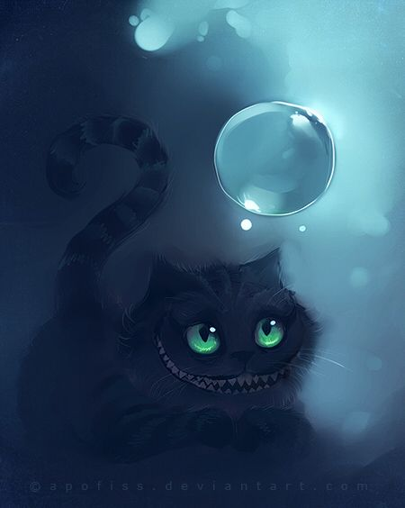 cheshire verse by Apofiss.deviantart.com cheshire cat is awesome!