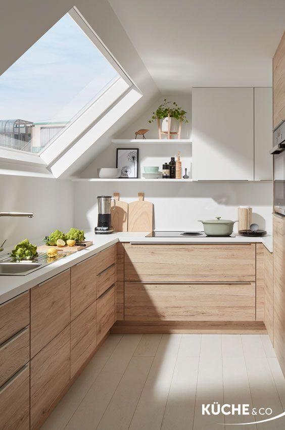 Holzküche | Moderne Küche | Einbauküche | Griffe | Design ...