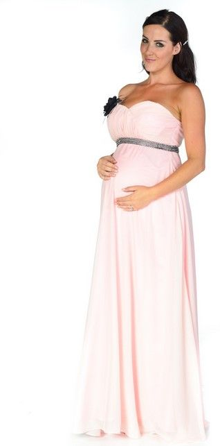 Fashionable pink maternity evening ball dresses for white tie