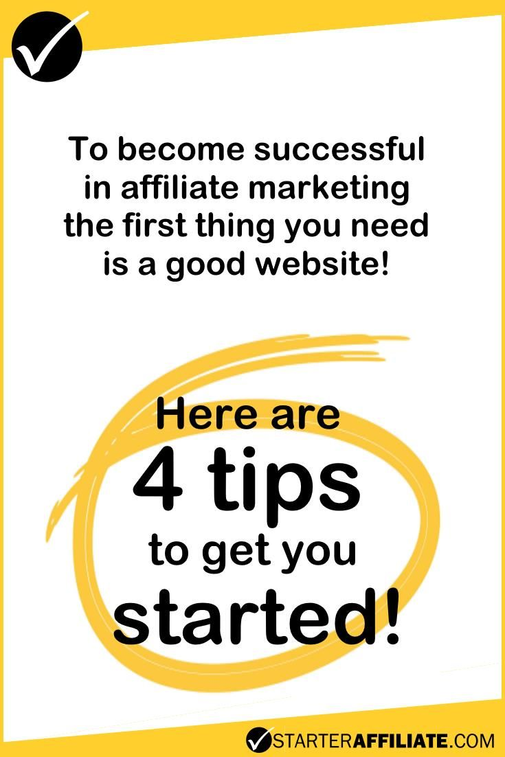 To become successful in affiliate marketing, the first thing you need is a good website.