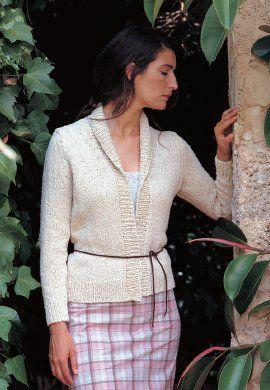 Free knitting pattern - Cinnamon by Kim Hargreaves in Rowan Summer Tweed: http://www.mcadirect.com/shop/rowan-summer-tweed-silk-cotton-p-32.html