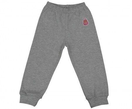 Pantalonaşi cu elastic în talie gri 100% bumbac | Cod produs: NIG098