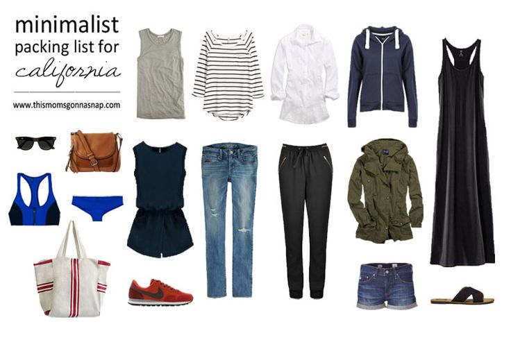 Mom Style Minimalist Packing List For A Ca Vacation