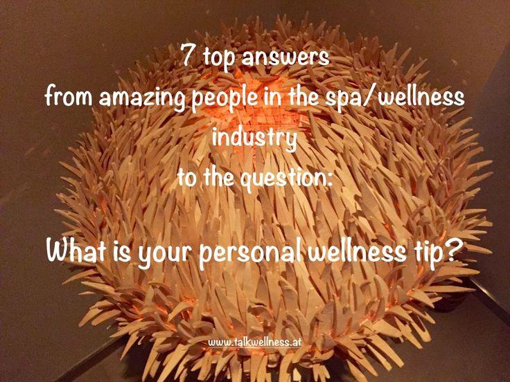 personal wellness tip