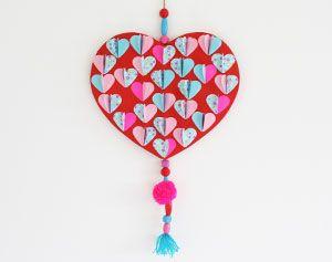Moederdag of Valentijn knutselen: groot hart