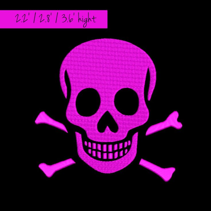 Skull embroidery Design digital download instant death by GretaembroideryShop on Etsy