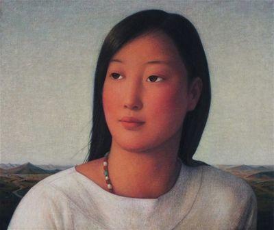 xue mo | xue mo portrait of miss wulan 2012 oil on linen 51 x 61 cm xue mo 2012 ...