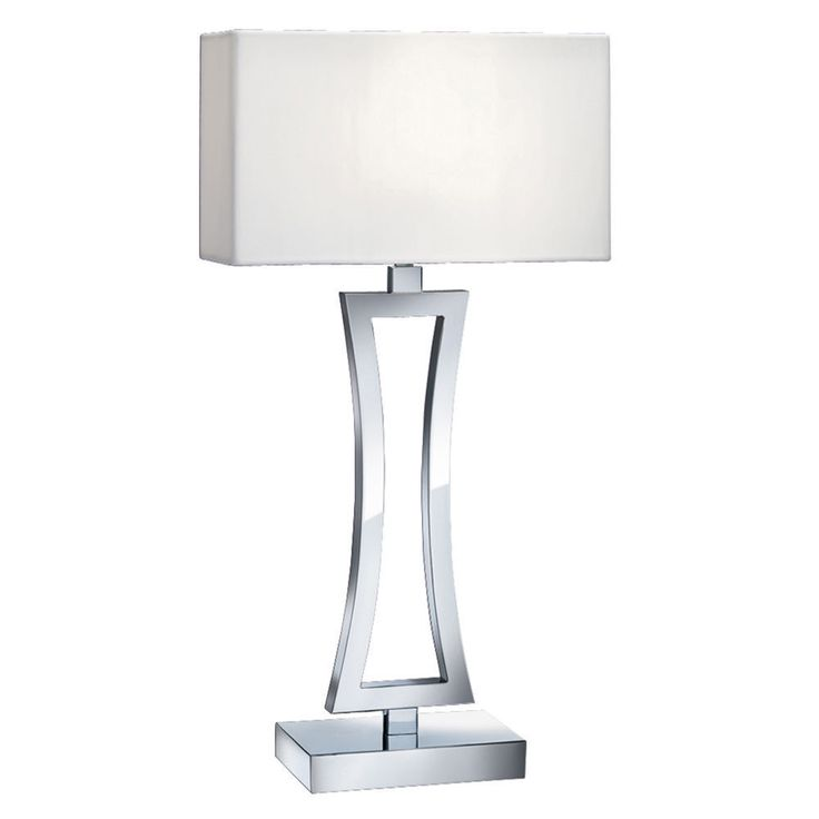 36 best table lamps by dushka ltd london uk images on pinterest searchlight 4081cc 1 chrome curved rectangular table lamp with white shade from dushka ltd mozeypictures Choice Image