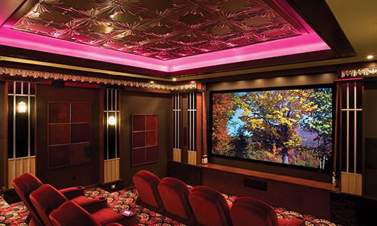 Snap! Can i please have a movie theater room in my house?!