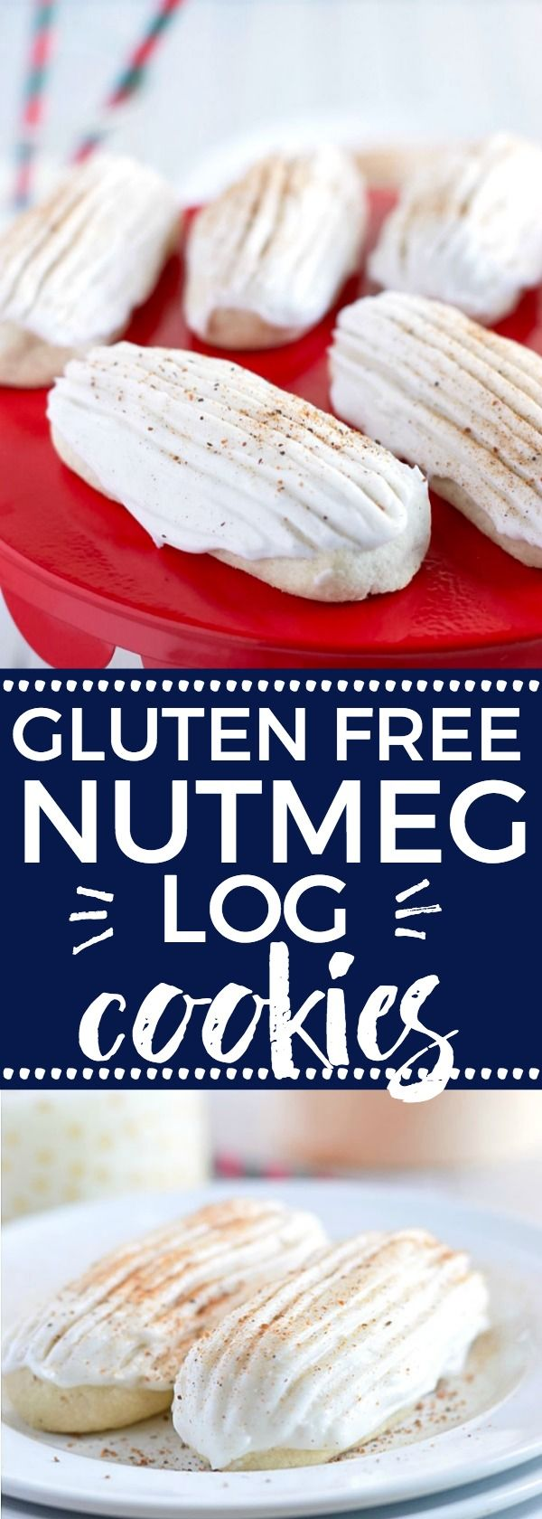 Easy Gluten Free Nutmeg Log Cookies make a great holiday treat. gluten free cookie recipe