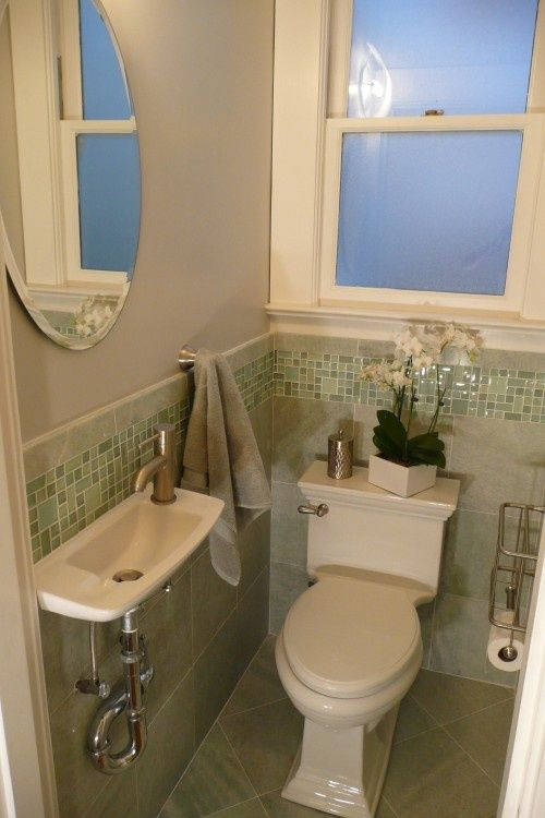 14 best powder room images on pinterest bathroom for Really small bathroom