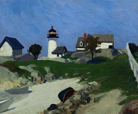 Edward Hopper, Squam Light, 1912 on ArtStack #edward-hopper #museumweek