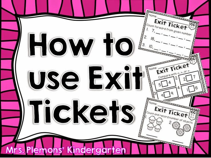 Best  Exit Tickets Ideas On   Exit Slips Classroom