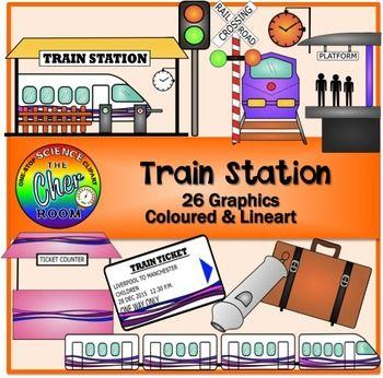 Clipart Train Station Travel