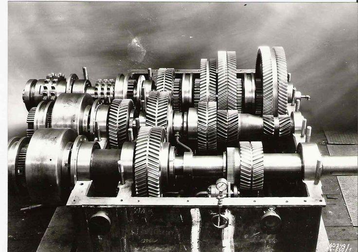 1955 Škoda Plzeň. Převodovka pro čerpací stanici na naftu.