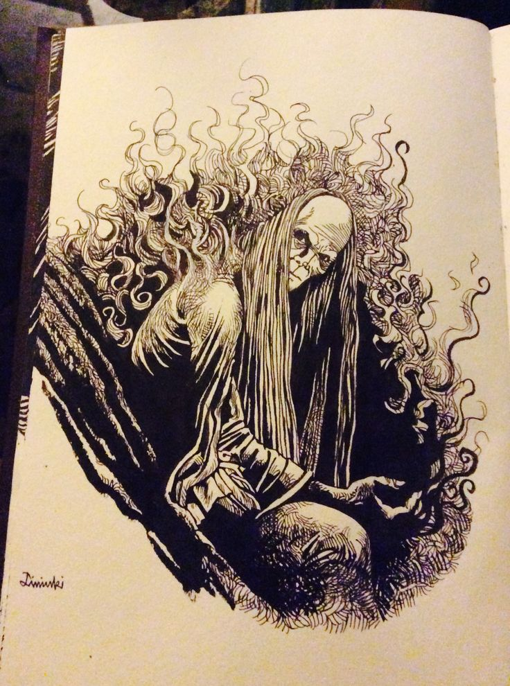 by Diminki burning creature encre de chine