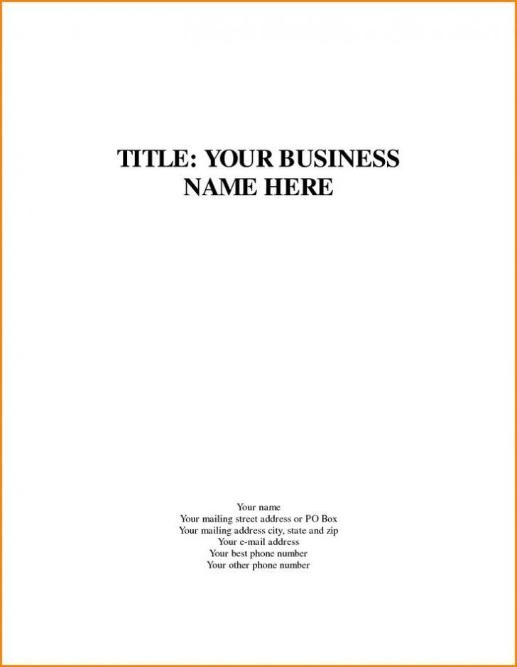Business Plan Cover Page Template Unique 15 Cover Page Of A Proposal Cover Page Template Title Page Template Quote Templates Business plan cover page template