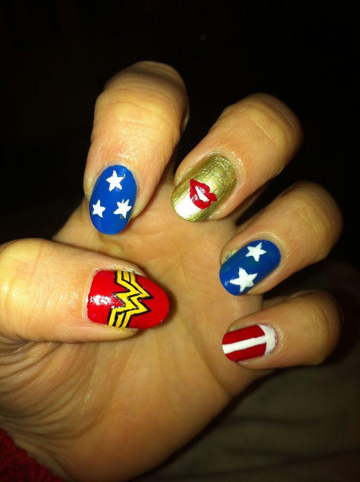 Best 25+ Wonder woman nails ideas on Pinterest | Wonder ...