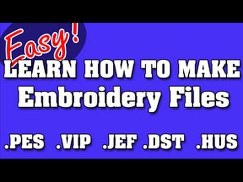 NEVER PAY FOR EMBROIDERY FILES AGAIN - HOW TO DIGITIZE LOGOS YOURSELF - using Sew Art program available for demo or purchase.