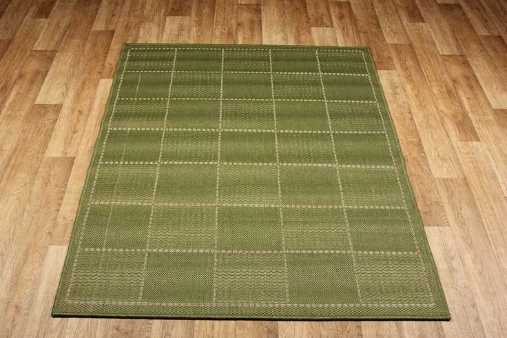 Chequered Flatweave Green Rug By Oriental Weavers