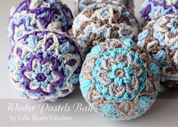 Winter Pastels Ball - Christmas overlay crochet pattern by Lilla Bjorn Crochet