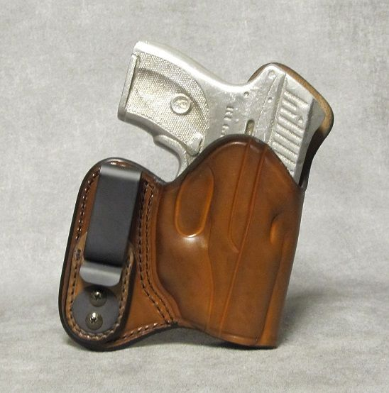 Ruger LC9 IWB w/ Sweat Shield Leather Holster - Brown: ETW Holsters