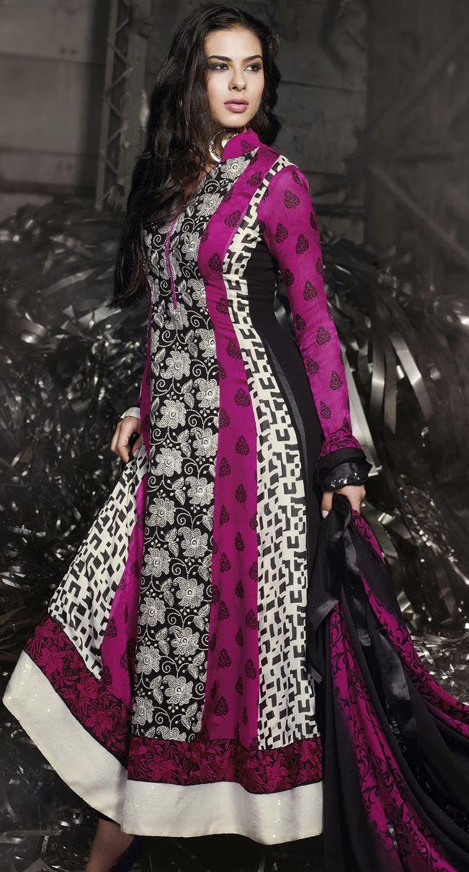 Deep Pink Jacquard #Churidar #Pakistani #Suit | @ $63.54
