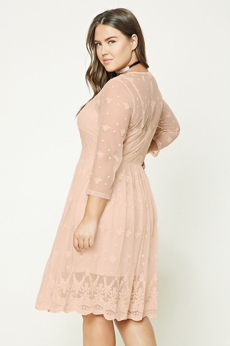 Plus Size Embroidered Dress | Forever 21 PLUS - 2000227324