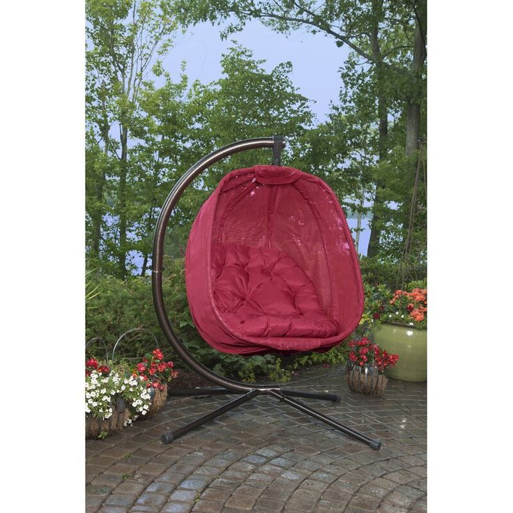 Flowerhouse egg swing chair with stand reviews wayfair