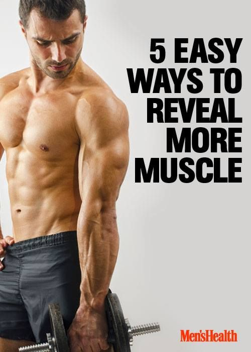 Show off your hard work with these tips. http://www.menshealth.com/fitness/5-easy-steps-reveal-more-muscle?cid=soc_pinterest_content-fitness_sept14_revealmoremuscle